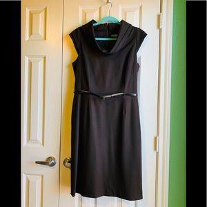 2/$50👗Antonio Melani Brown Cowl Neck Dress: